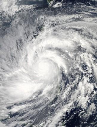 Фотография тайфуна 8 ноября недалеко от Филиппин