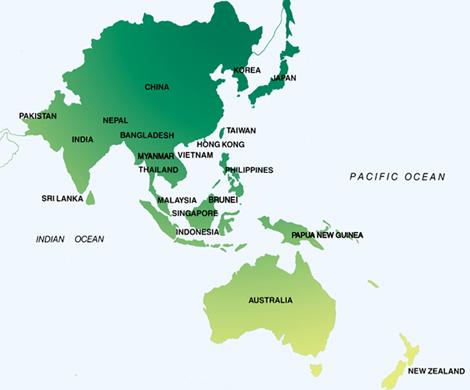 Азиатско-Тихоокеанский регион.