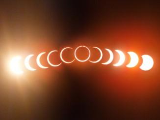 Фазы кольцевого солнечного затмения