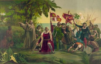 Диоскоро Пуэбло. «Высадка Колумба вАмерике» (картина 1862 года).