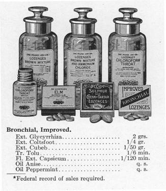 Так выглядел ассортимент Eli Lilly в1906 году.