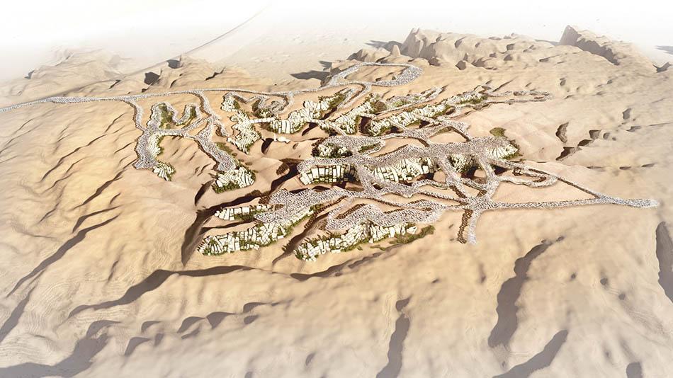 KA-CARE будет так называемым <em>параметрическим городом</em>, максимально функциональным, таким, вкотором все элементы, от атомной станции до жилой комнаты, от использования ландшафта до тени, бросаемой зданиями, атакже возможная динамика, развитие всех элементов будут взаимосвязаны. Всё это будет тщательно просчитано врамках компьютерной модели, азатем воплощено вреальность.