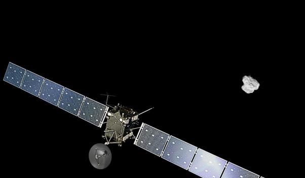 """Зонд """"Розетта"""" Европейского космического агентства (ЕКА) удачно вышел наорбиту кометы Чурюмова— Герасименко."""
