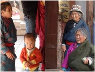 Жители Тибета.