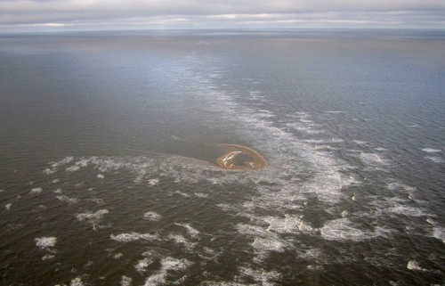 Остров, расположенный вСеверном Ледовитом океане, был обнаружен случайно в2013 году экипажами двух вертолётов.