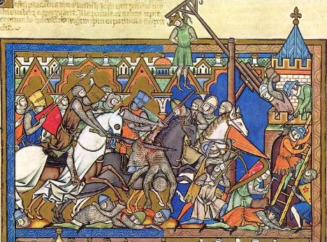 Иллюстрация из «Библии крестоносца»