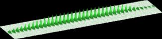 Расположение атомов влинейном массиве бозе-конденсатов