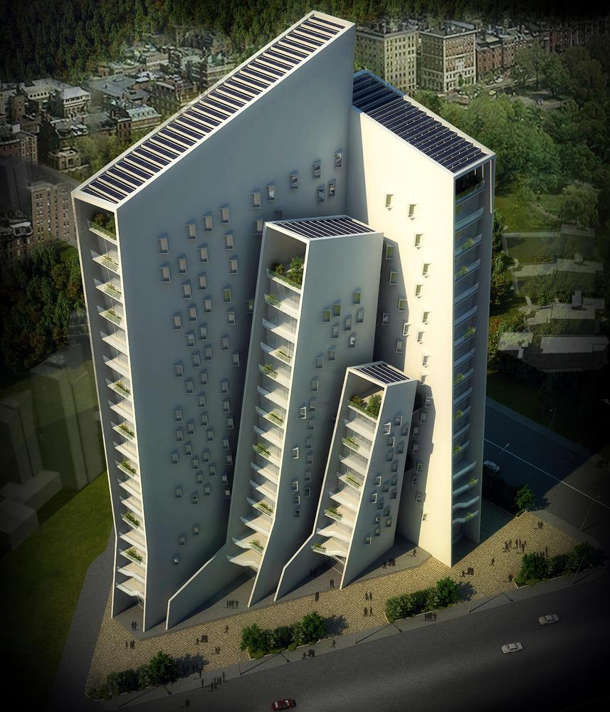 Офисное здание от Sanjay Puri Architects