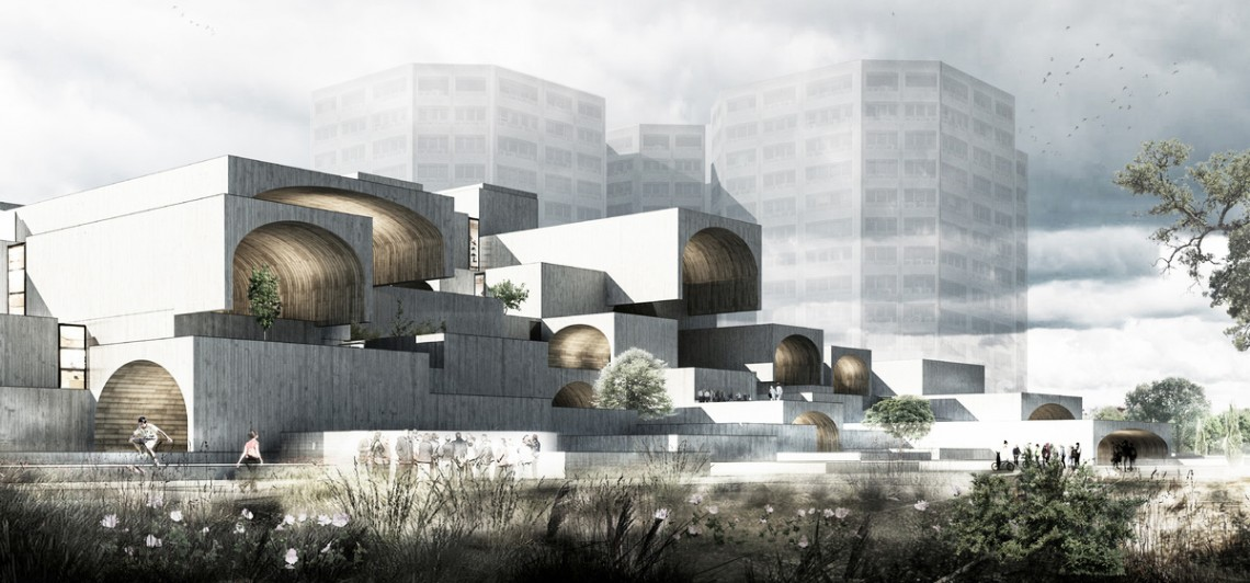 Isfahan Dreamland Commercial Center by Farshad Mehdizadeh Architects.