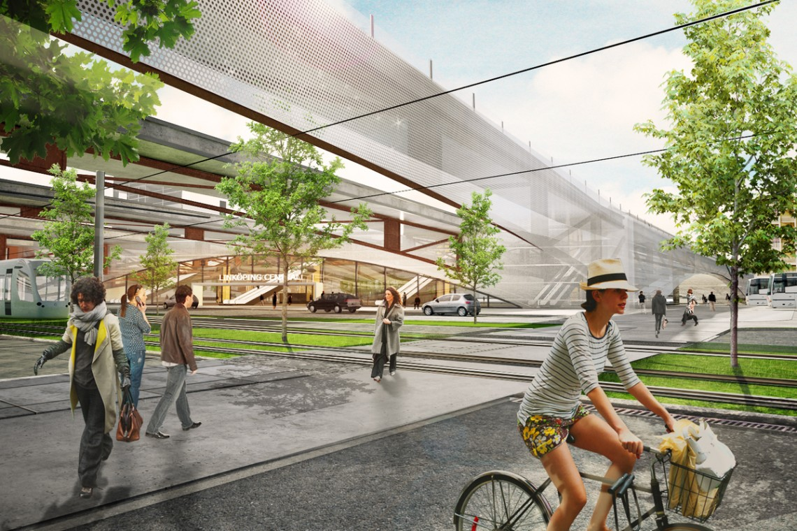 Linkoping Central Station by Sweco Central Architects.