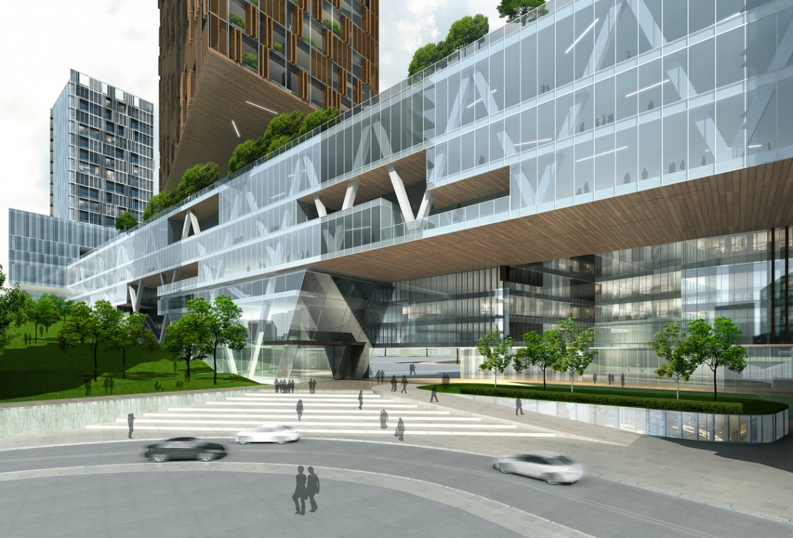 The Extension of The People's Hospital of Futian— Leigh & Orange.