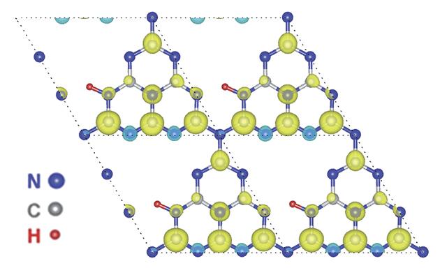 Ненасыщенные водородные связи вграфитовом нитриде углерода