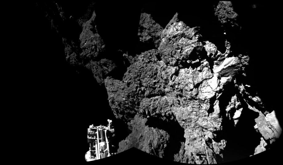 Снимок ядра кометы