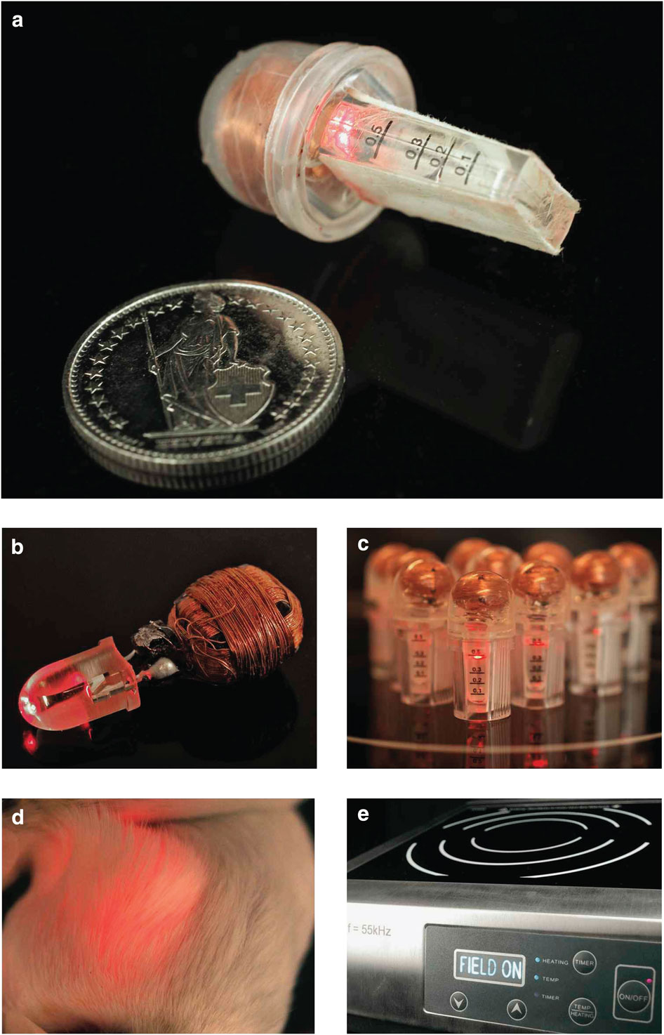 Wireless-powered optogenetic implant.
