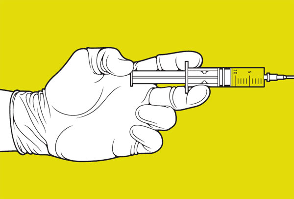 Прививка.