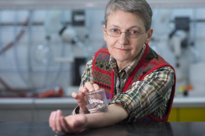 Биолог Регина Грис кормит клопов, которые нужны для научной работы.