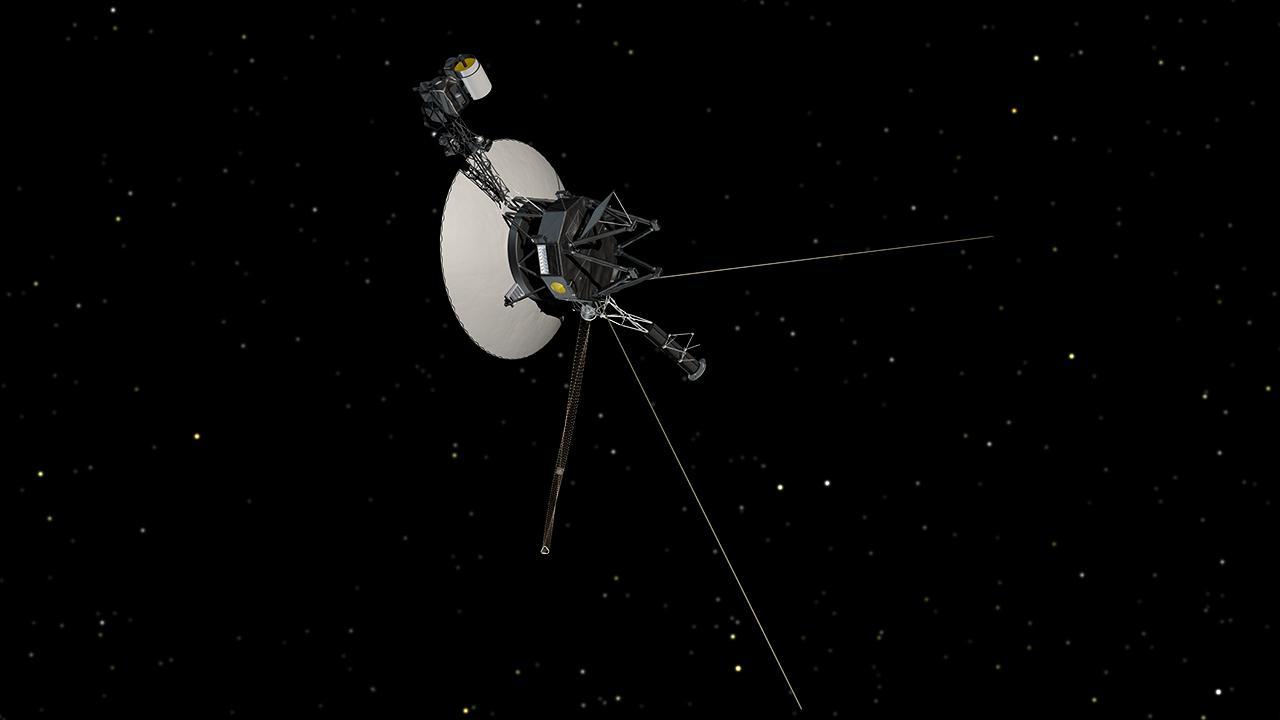 «Вояджер-1», покинувший пределы Солнечной системы, впредставлении художника.