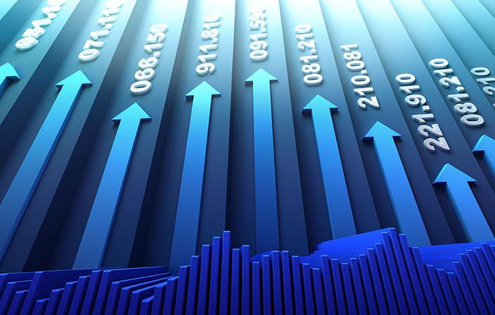 Большие объёмы коллективных движений фондовых рынков имеют тенденцию предшествовать обвалу.