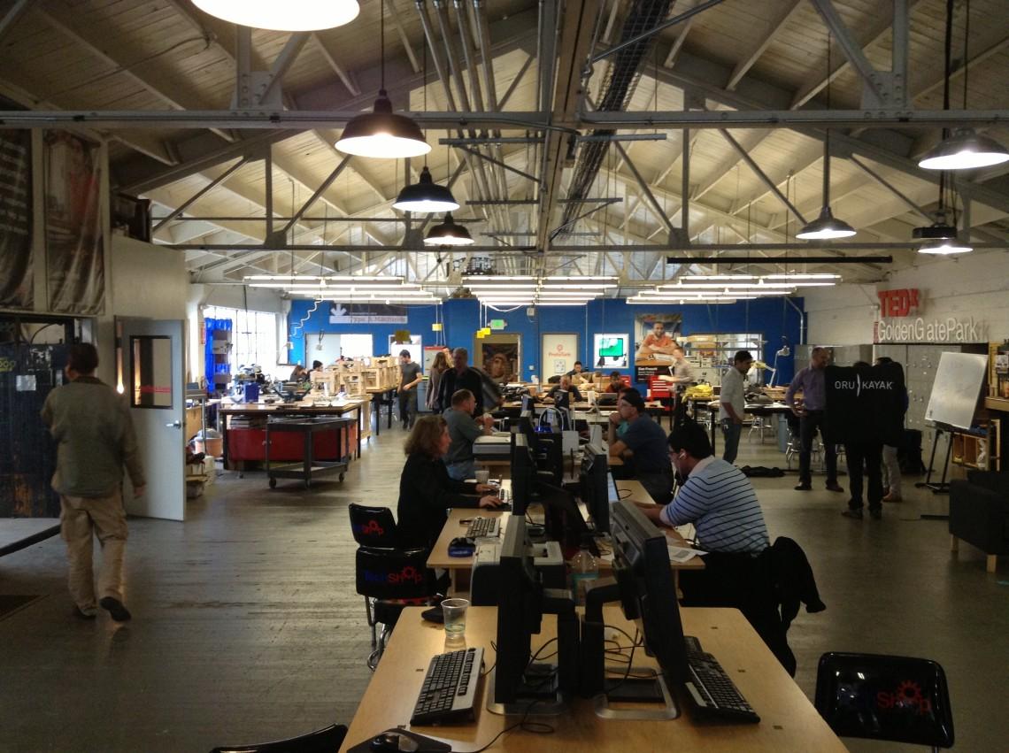 TechShop SF, Сан-Франциско, одна из множества мейкерских мастерских, поддерживаемых компанией TechShop.