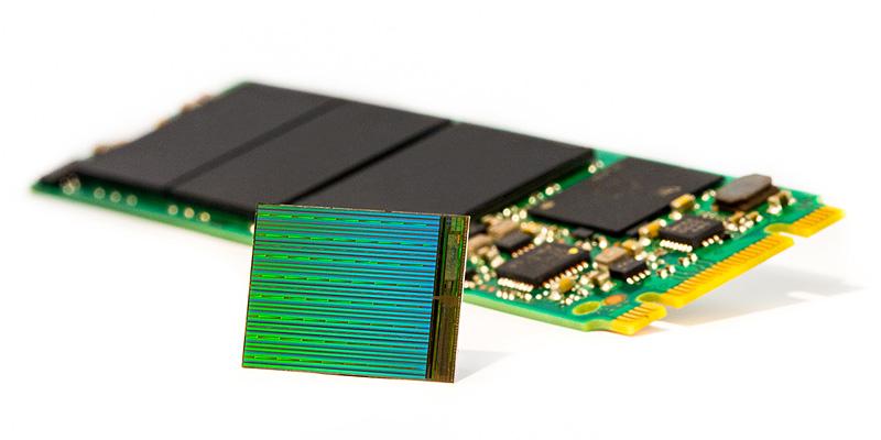 Микросхема памяти натехнологии 3DNAND.