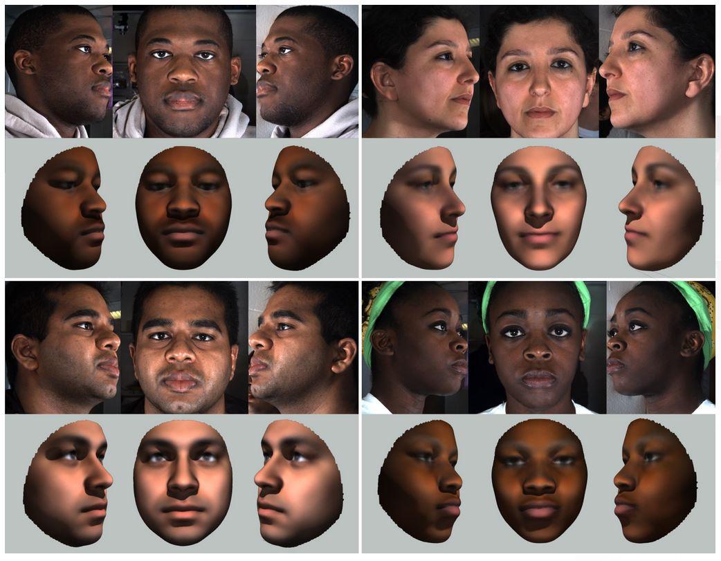 Фотографии реальных людей ипортреты, созданные наоснове анализа их генома.