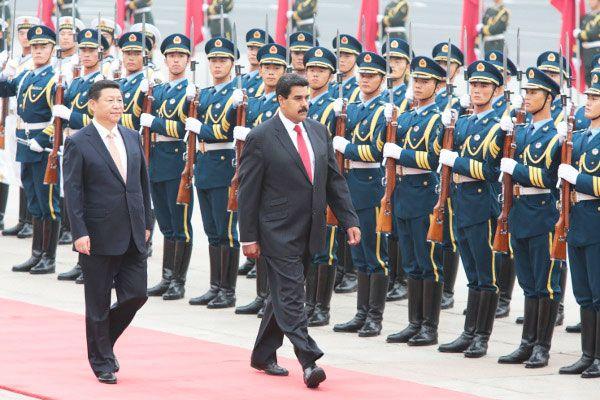 Президент Мадуро во время визита вПекин