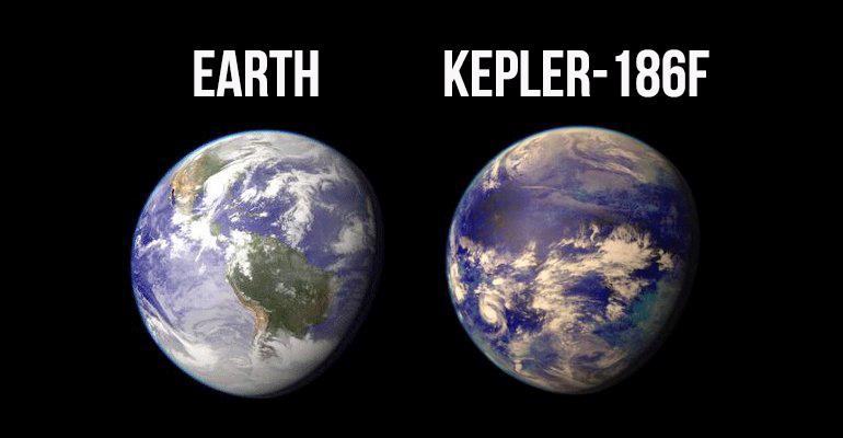 Экзопланета  Kepler-186f .