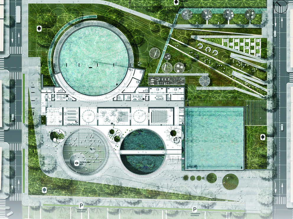 План-схема парковой зоны.