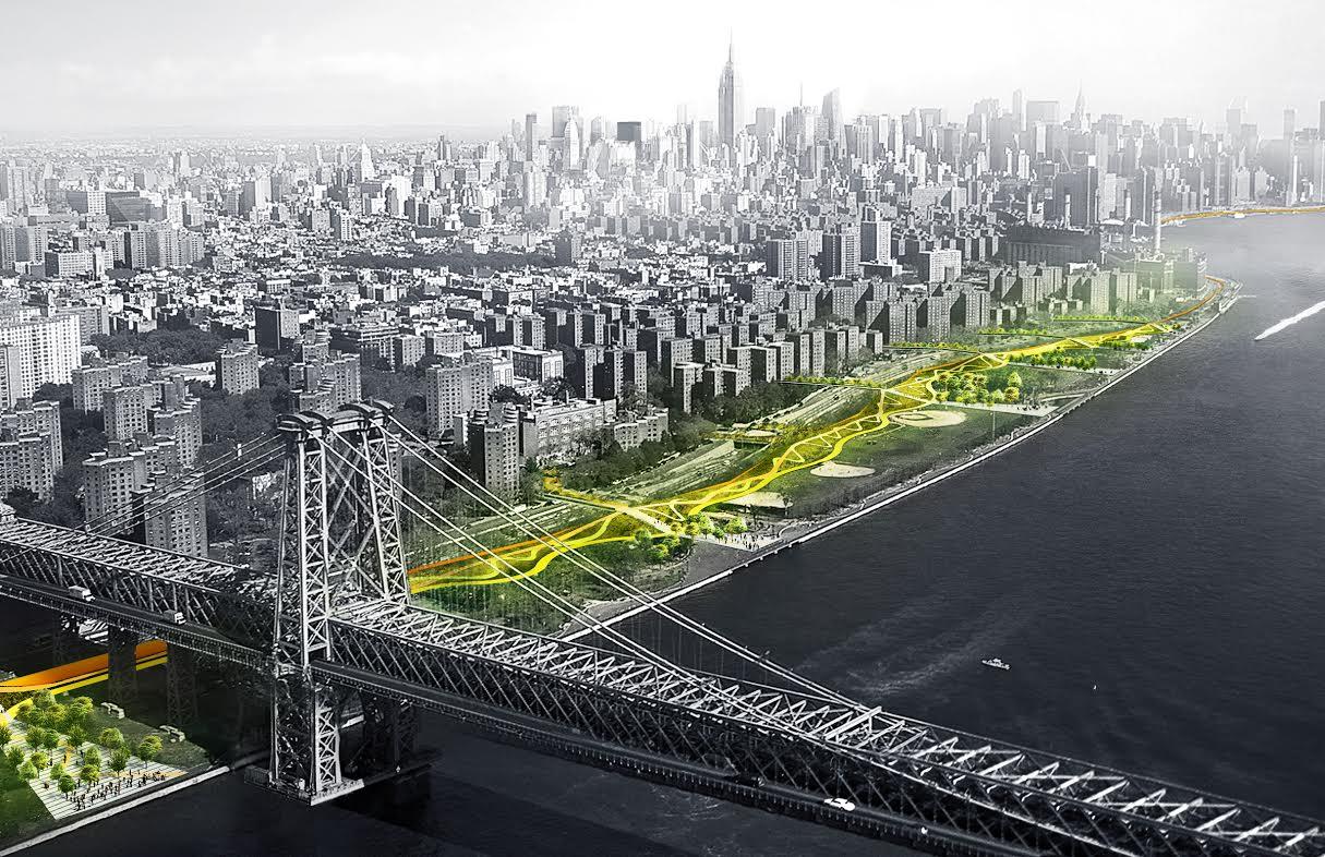 Dryline: Городская инфраструктура защиты от наводнений, Нью-Йорк, США.