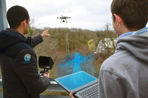 Иллюстрация проекта дополненной реальности для дронов