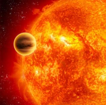 Адская погода далёкой экзопланеты