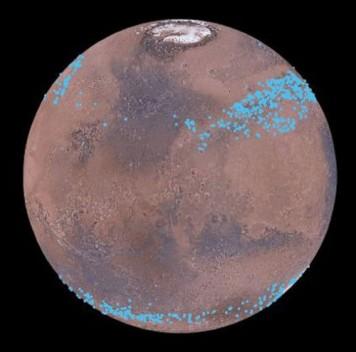Ледники Марса скрыты под слоем пыли