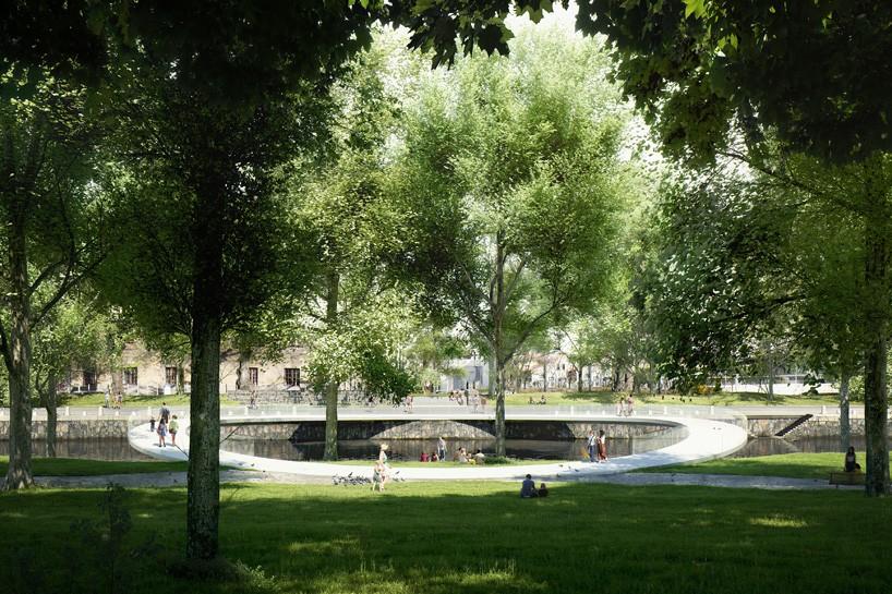 Углепластиковый мост соединит набережную Сальгренсгатан сгородским парком.