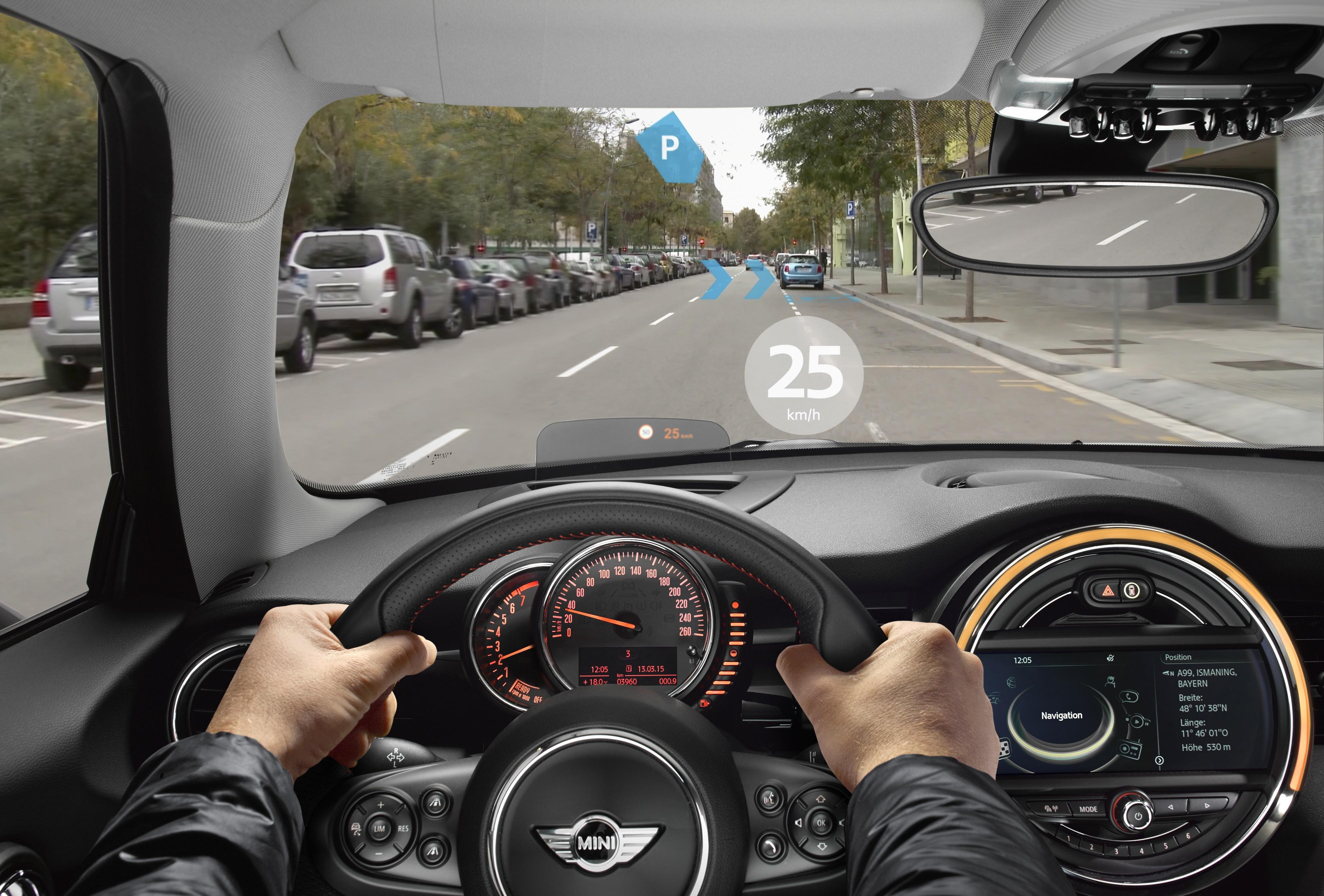 Дополненная реальность вавтомобиле Mini