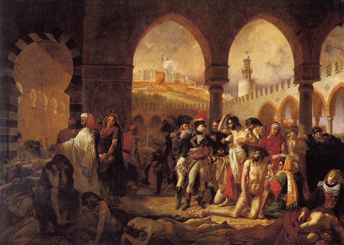 Антуан-Жан Гро. Наполеон возле больных чумой вЯффе, 1804