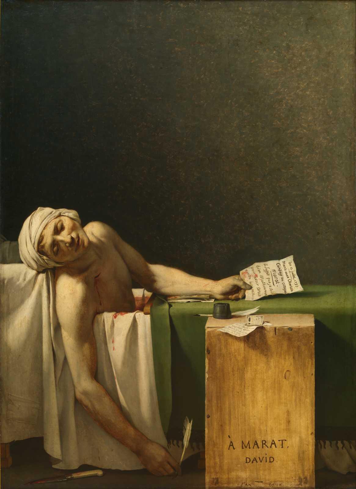 Жак Луи Давид. Смерть Марата. 1793