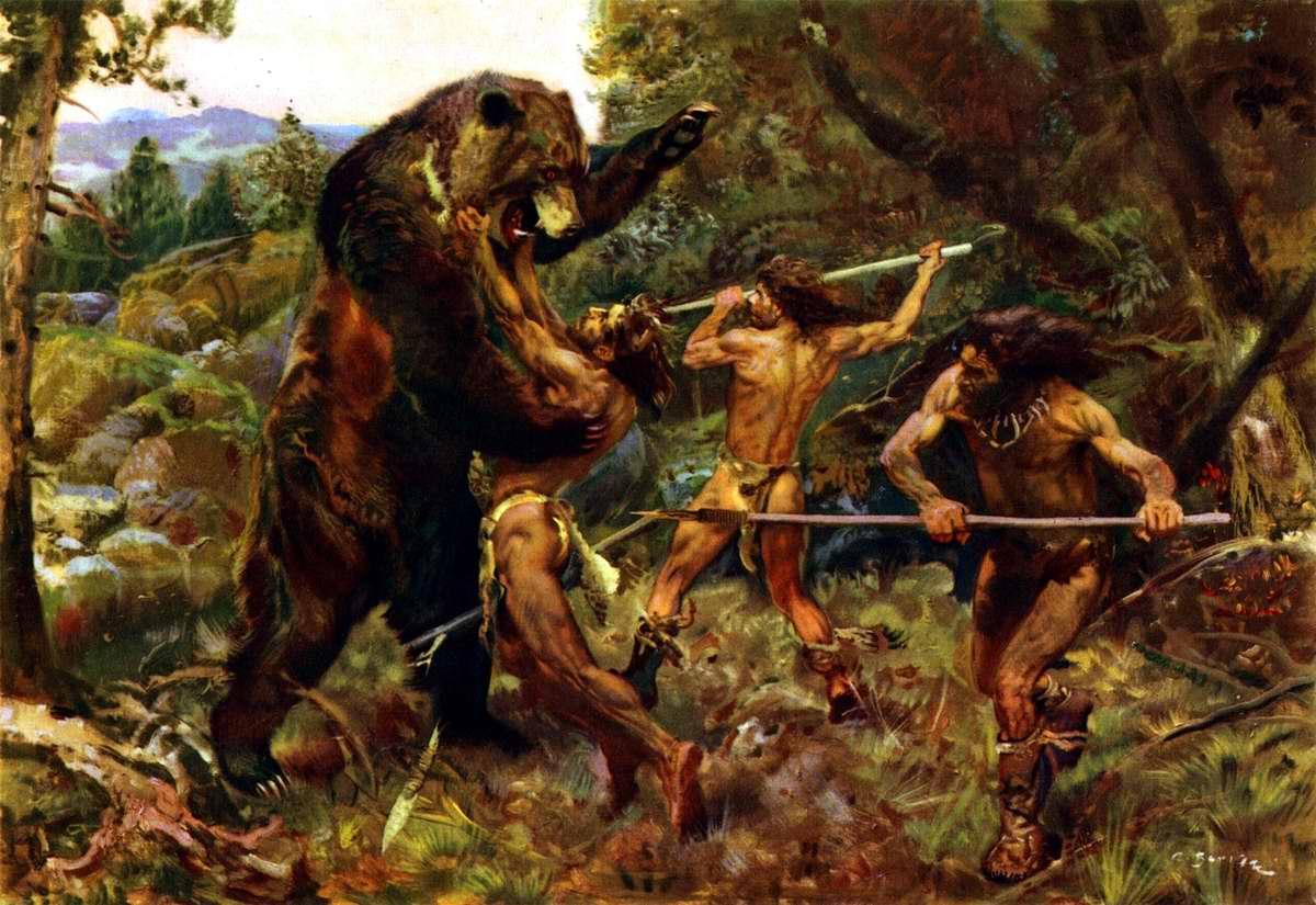 Зденек Буриан. Охота напещерного медведя