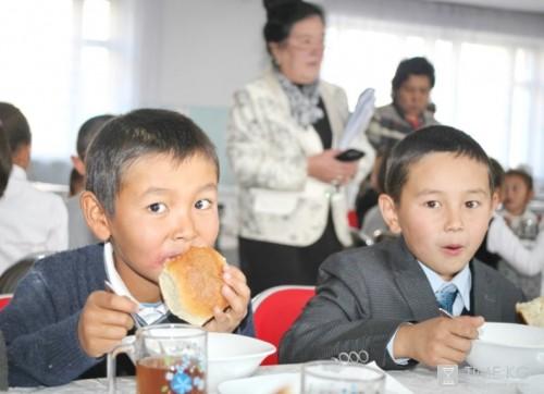 Школьная столовая вКиргизии