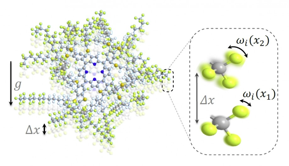 Декогеренция молекулы