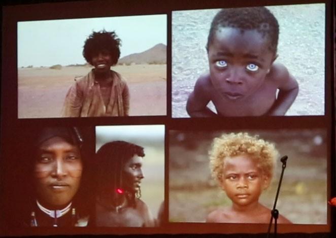 Четыре жителя Африки ижитель Меланезии