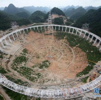 В Китае строится самый большой вмире радиотелескоп спятисотметровой апертурой