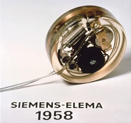 Первый вмире имплантируемый кардиостимулятор Siemens Elema