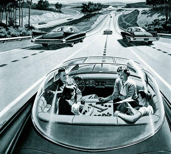 Реклама автономных машин 1956 года