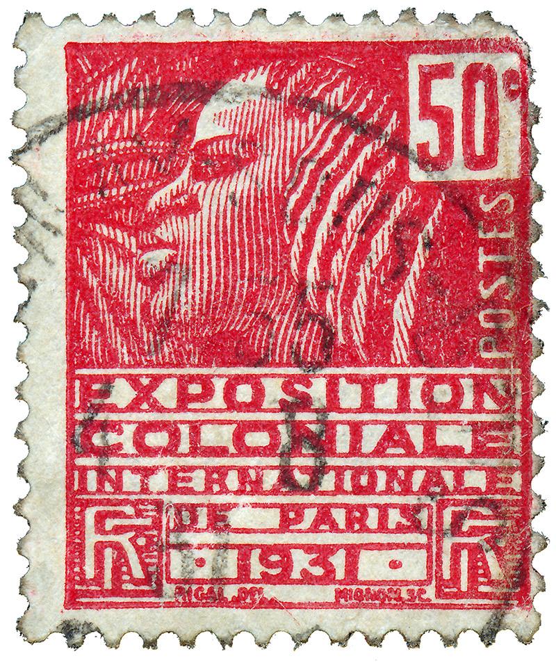 Почтовая марка, выпущенная вчесть Международной колониальной выставки вПариже в1931 году