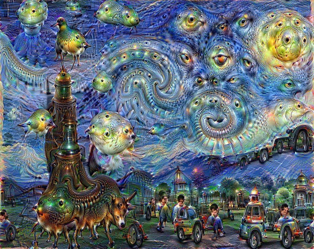 Основной для этого изображения стала картина «Звёздная ночь» ВинсентаВанГога.