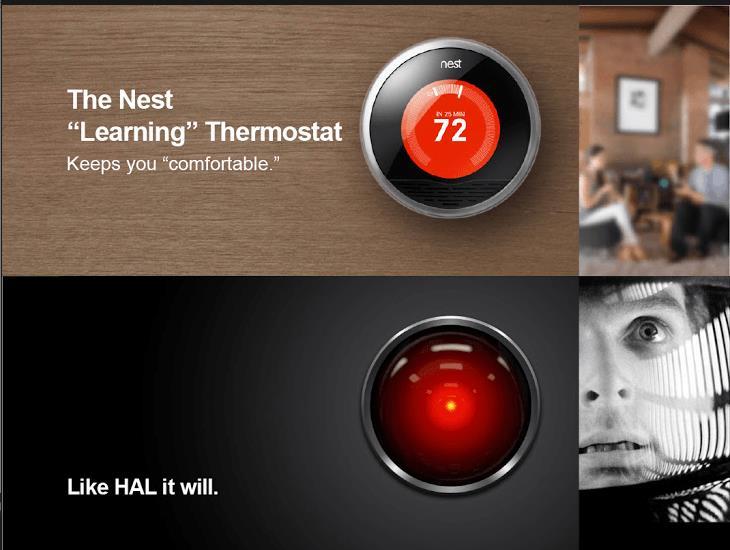 Вещи, которые вы отказываетесь замечать. Интерфейс искусственного разума HAL 9000 один водин походит надизайн термостатов Nest