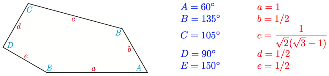Формула пятиугольника