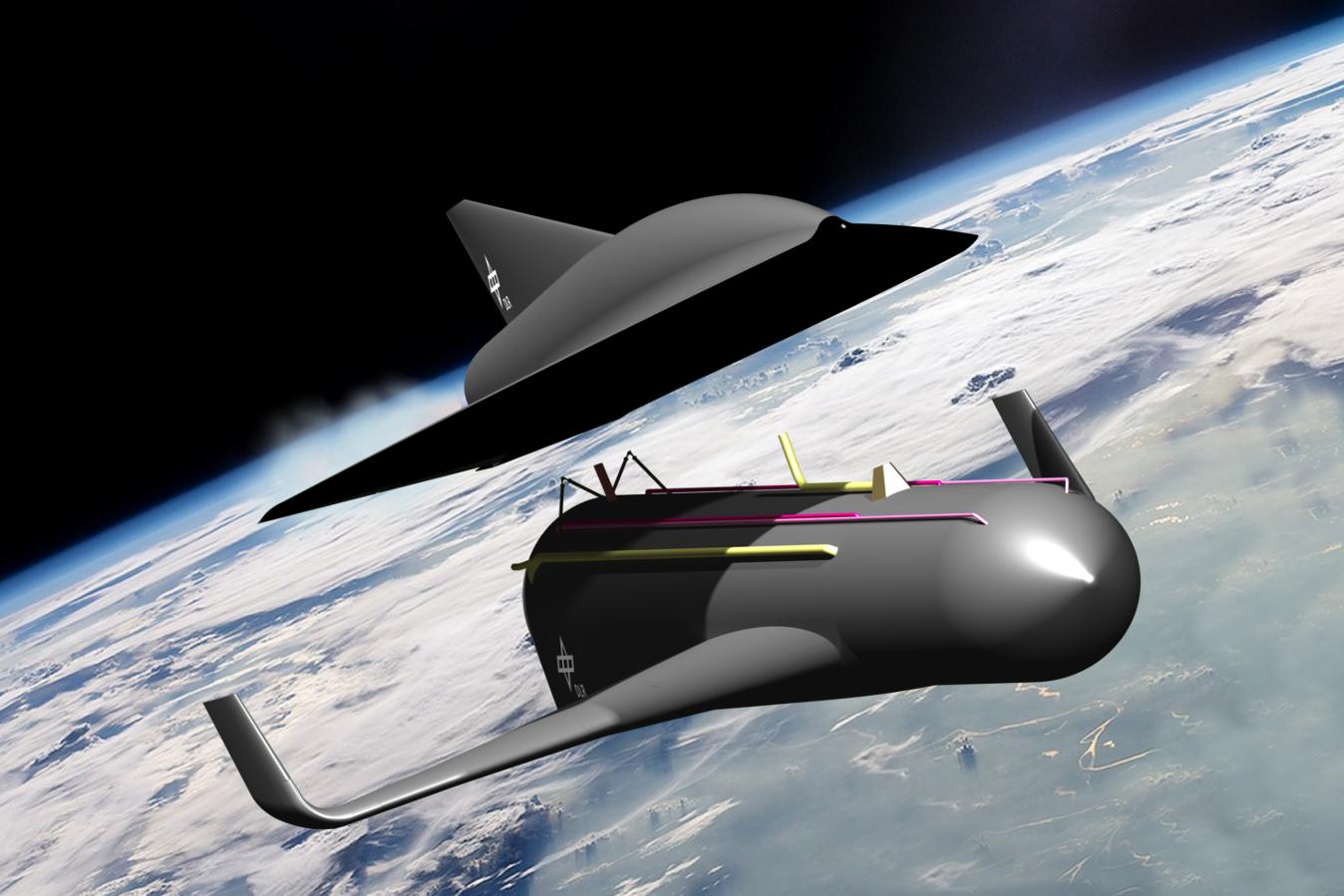 Многоразовый беспилотный разгонный модуль выведет гиперзвуковой самолёт наорбиту ивернётся кместу старта. Ускоритель полной массой 1460 тонн, оснащённый 9реактивными двигателями, сможет доставить 380-тонный самолёт навысоту до 75км, разогнав его до3,7км/с. Затем пассажирский модуль ускоряется самостоятельно при помощи своих двух двигателей, достигая скорости 7км/с ивысоты 80км.