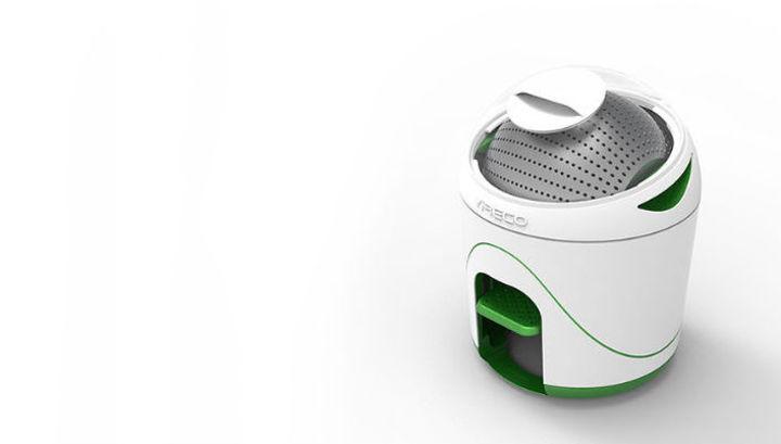 Стиральная машина <i>Drumi</i> предназначена для кемпингов идругих мест, где могут быть проблемы сэлектричеством, атакже для тех, кто хочет внести вклад вспасение мира от парниковых газов.