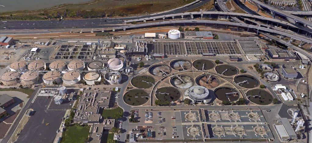 Водоочистные сооружения вКалифорнии.